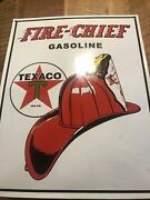 Texaco Fire Chief Oil Vintage Style Porcelain Signs Gas Pump Man Cave Station