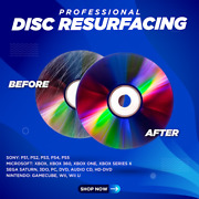 1-25 Disc Repair Service Fix Scratched Media Dvd Blu-ray Ps Xbox Wii And More
