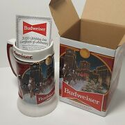 Budweiser 2020 Limited Edition Holiday Stein Mug Brewery Lights Clydesdale 41st