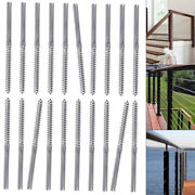 20x Swage Lag Screw Stud Thread T316 Stainless Steel And Drill Bit For 3/16 Cable