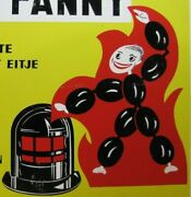 Super Fanny Old Anthracite Coal Advertising Sign Gas Oil Heating Fuel Stove Ad