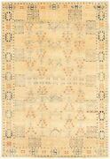 Hand-knotted 5and0390 X 7and0397 Finest Ushak Bordered Traditional Rug