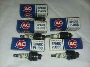 Bf-003 Ac Spark Plugs 46 1559494 Fire Ring Lot Of Five New In Box Usa Chevrolet