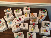 Disney Grolier Christmas Magic 26231 Series - Lot Of 21 Ornaments With Boxes