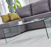 Modern Furniture Coffee Table Tempered Glass Clear Coffee Table For Living Room
