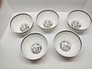 Villeroy And Boch Set Of 5 Mini Rice Bowls In The Audum Ferme Pattern 5 1/2