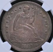 1847 Seated Liberty Dollar Ngc Ms 61 Lustrous And Well Struck In Glossy Pewter