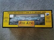 Mth Rail King Auto Transport With Ertl And03964 Mustangs