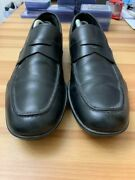 Prada Mens Black Slick Leather Loafers Casual/dress Size 9.5 595 Retail