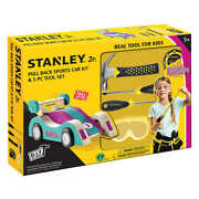New Stanley Jr. Pull Back Sports Car Kit And 5 Piece Tool Set - Teal Free Shipping