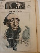 1860-1880 Caricatures Topical Dog Cat Drawing Gill