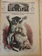 1860-1880 Caricatures Topical Dog Cat Drawing Gill Clothing