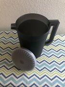 Tupperware 2 Qt Pitcher Black W/ Matching Seal Pitcher W/ Push Button Seal New