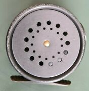 A Good Hardy 2 7/8 Perfect Fly Reel With Agate Line Guard Ribbed Brass Foot