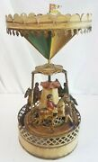 Carousel Toy Gunthermann Germany Early 1900and039s Windup Original Tin Horse Rider