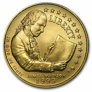 1993-w Gold 5 Commem Bill Of Rights Bu Capsule Only - Sku51981