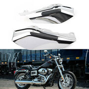 Mid-frame Air Deflector Wind Heat Shield Trim Vivid Chrome For Harley Touring