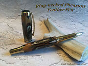 Ring-necked Pheasant Feather Roller Ball Pen Unique Hunter Sportsman Gift