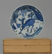 Antique Chinese 16/17c Chinese Porcelain Ming Transitional Kraak Plate Se Asia