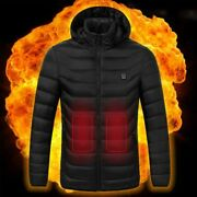 Electric Heated Vest Jackets Usb Electric Heating Hooded Cotton Coat Camping