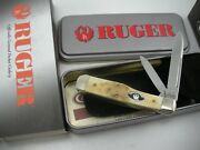Case Limited Edition Stag Ruger Small Gunstock Knife Never Used In Box 5215 Ss