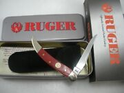 Case Limited Edition Red Ruger Small Toothpick Knife Never Used In Box 5468 Ss