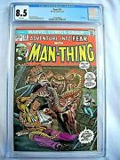 Marvel Fear 12 Cgc 8.5 Vf+ White Pages 1973 Man-thing Steve Gerber Jim Starlin
