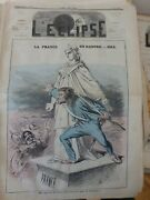 1860-1880 Caricatures France Danger Helmet Prussian Drawing Gill