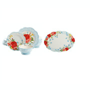 The Pioneer Woman Sweet Rose12-pc Dinnerware Set And 21-inch Oval Serving Platter