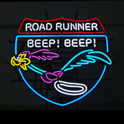 Neon Signs Road Runner Real Glass Beer Bar Pub Store Party Homeroom Decor 24x20