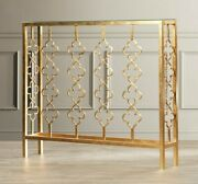 Narrow French Farmhouse Glam Gold Console Sofa Hall Table Horchow
