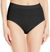 Wacoal 261863 Womenand039s B-smooth Brief Panty Black Underwear Size Large