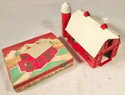 Vintage Plasticville Usa White - Red Barn Kit Mn-1 Ho Scale With Box