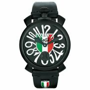 Gagandagrave Milano Manuale 48mm Italy Shield Black Pvd Limited Edition
