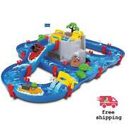 Aquaplay Mountain Lake Water Playset Aqua Play Boats And Figures Included