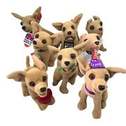 8 Vintage Yo Quiero Taco Bell Stuffed Plush Chihuahua Dogs Collectable Toys