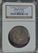 Rare Ngc Au50 1776 Switzerland Klippe Zurich Medal Top Pop @ Ngc And Pcgs Toned