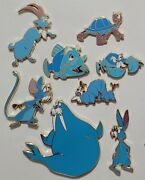 8 Fantasy Disney Pins. Merlin Animals From The Sword In The Stone.