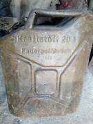 Vintage German Military Wehrmacht Jerry Can Gas Fuel Container Wwii 1943
