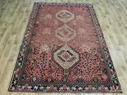 Old Wool Hand Made Persian Oriental Floral Runner Area Rug Carpet235 X 150cm