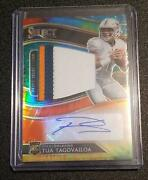 Tua Taovailoa 2020 Select Rc Rpa Tie Dye Rookie Patch Auto And039d 25 Miami Dolphins