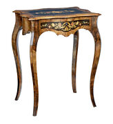 19th Century Walnut And Inlaid Work Table