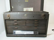 Kennedy 520 Tool Box / Chest W/ 7 Drawers, 4 Dividers, 20 X 8 X 13 Tall, Vg