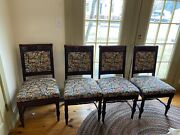 Antique Mahogany Eastlake Dining Room Chairs Set Of 12