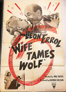 Wife Tames Wolf And03947 Leon Errol Style A Short Original U.s. Os Film Poster