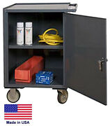 Cabinet Cart Portable - Commercial - Locking Door And Worktop - 34h X 23w X 20d