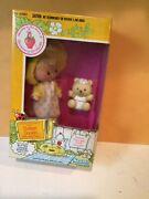 Vintage Strawberry Shortcake Butter Cookie Doll With Jelly Bear Kenner 1982 New