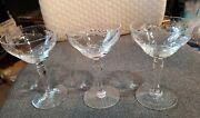 3 X Gorgeous Hawkes Marcella Crystal 5 1/4 Champagne Glasses