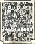 Rare Large Poster From Bruce Weber California Exhibition 4andrsquox3andrsquo Vtg 1991 Iconic