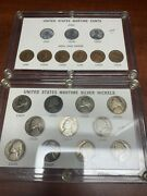 Silver War Nickels + Wartime Cents Sets Capital Plastic Holders Lincoln Steel